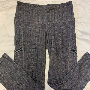 Athleta Gray Leggings with Side Zippers